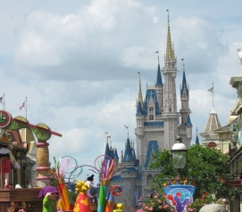 Cinderella's Castle, View from Main Street USA
