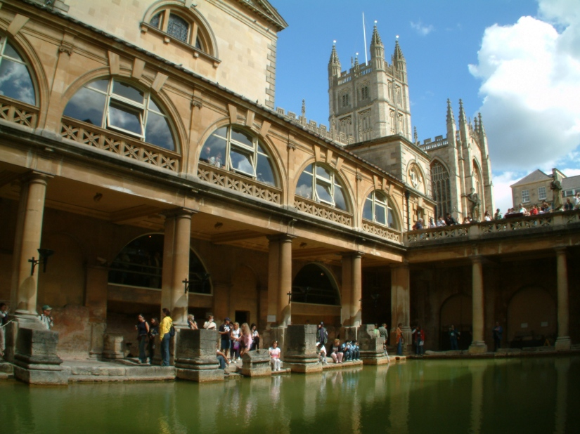 Georgian viewing platform of the Roman Baths